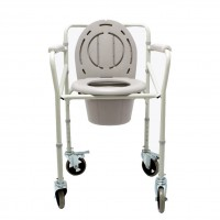 ASIENTO PLEGABLE RUEDAS COMMODE YUWELL